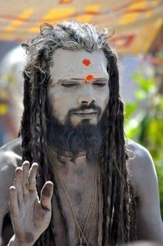 Sadhu dressed as Lord Shiva at the Maha Shivaratri in Kathmandu. Photos by Amanda Shore.