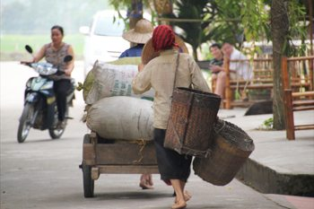 Commerce all over the streets in Vietnam.