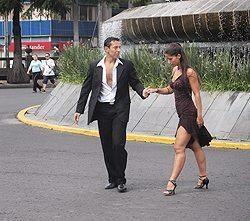 Tango on the Reforma, a main boulevard through the city.
