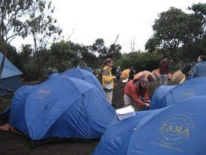 Tents on the excursion.