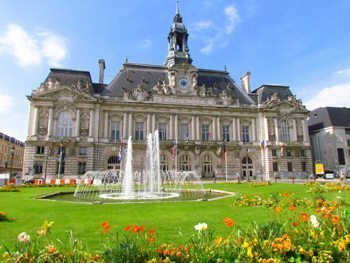 The city hall in Tours, France.