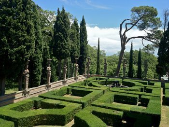 Gardens at Villa Farnese.