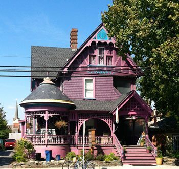 One of the Victorian houses in Lewes Delaware