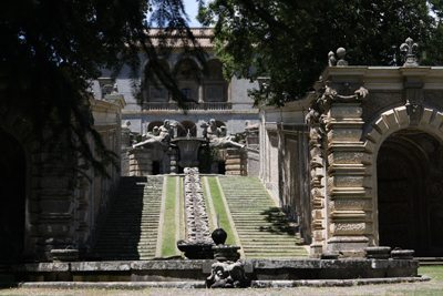 Fountains at Villa Farnese, in Tarquinia, Italy.