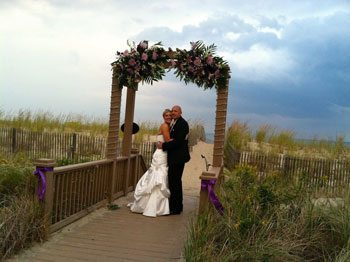 October seaside wedding at Addy Sea