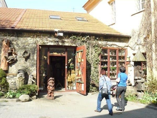 A woodcarver's shop