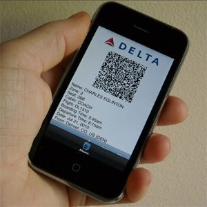 Your boarding pass on your cellphone: everybody will do it soon.