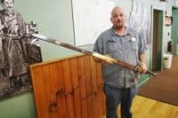 Michael Zavasky at the National Knife Museum in Sevierville.