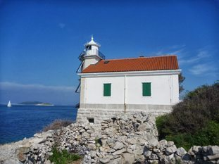 The lighthouse of Prisnjak Lighthouse island.