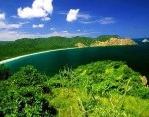 One of Ecuador's spectacular beaches.