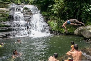 A refreshing dip in the Pacuare River in Costa Rica. Paul Shoul photos.