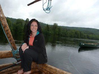 Gemma relaxing along the river.