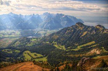 View of the Rhone valley in Switzerland