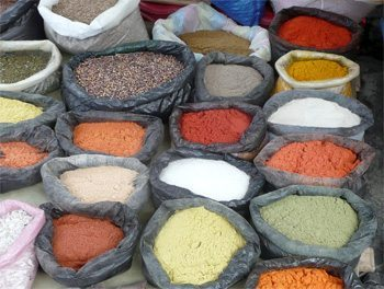 Colorful Spices at Otavalo Market