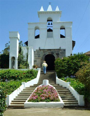 Chapel at La Compania, Ecuador.