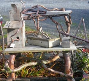 Tree branch furniture is popular in Whidbey.