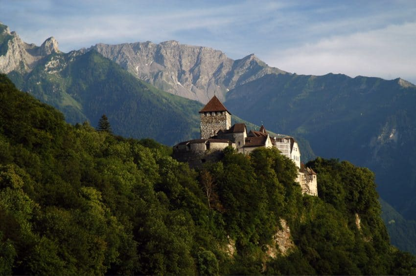 Vaduz Castle can be seen from various hiking spots in Lichtenstein.