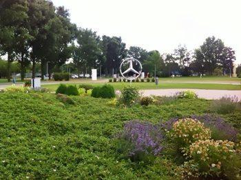 Mercedes Benz Headquarters in Stuttghart, Germany.