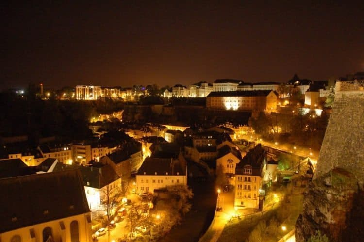 Luxembourg at night. photos by Ginger Kern.