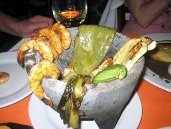 Shrimp and other seafood are great in Mexico.
