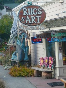 An eclectic crafts shop in Langley on Whidbey Island.