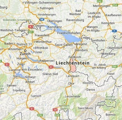 Liechtenstein, Near Zurich, in the Alps