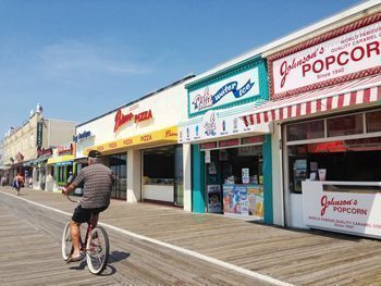 The boardwalk in Ocean City New Jersey. photos by Elle Rahilly