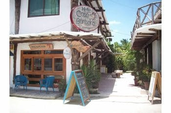 A side street in sleepy Isla Holbox.