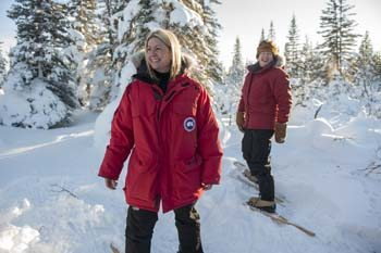 Snow shoe expeditions are part of everyday fun in the Churchill area. Courtesy photo.