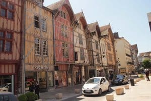 Troyes is a pretty city, with many, many half-timbered buildings.