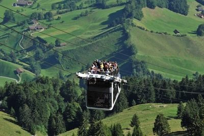 Cablecar in Switzerland. photos by Shelley Seale.