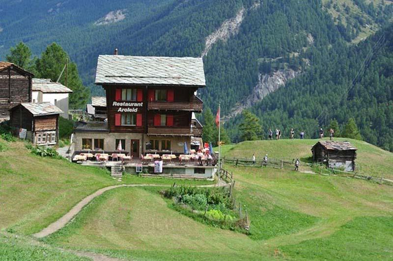Mountain views in Switzerland.