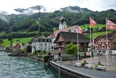 Along Lake Lucerne in Switzerland