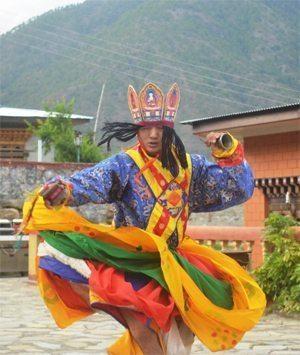 A Bhutanese dancer.