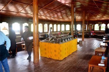 The cafeteria at Taktsang.