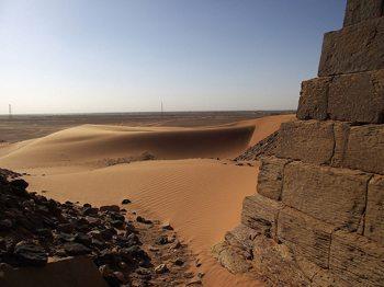 Dunes around the pyramids