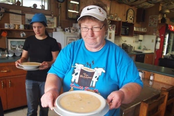 The best seafood chowder we ever had was in a small town north of Lunenburg.
