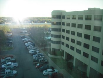 View from the hotel in Norman, OK.