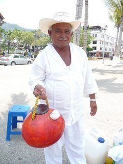 Mr Conception, a stalwart of Puerto Vallarta's Malecon.