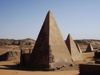 The rarely visited Meroe Pyramids in Sudan. Tom Coote photos.