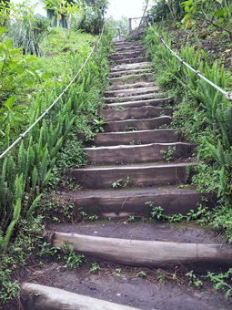 Steps to El Bouqueron in El Salvador. photo by Gary Singh.