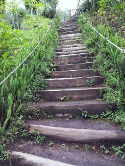Steps to El Bouqueron in El Salvador. photo by Gary Singh.
