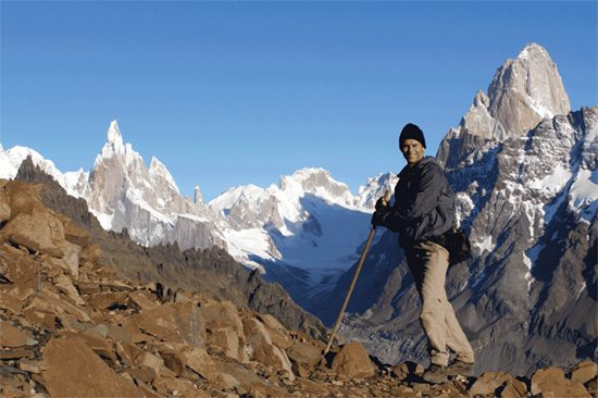 Tom Reed hiking in the Andes in Chile.