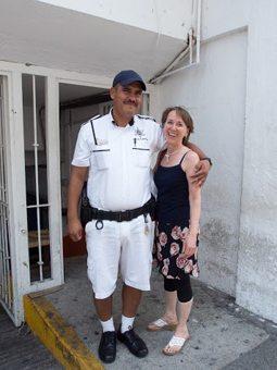 Cindy Bigras with PV's tourist police.