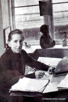 Karen Blixen at work.