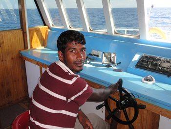 The captain of a Maldives cargo ship. Donna Richardson photo.