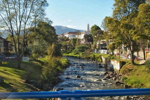 The Rio Tomebamba, full of trout, is one of four rivers running through Cuenca, Ecuador.