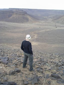 The vast Sahara in Morocco.