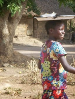 Girl in Central Africa Republic.