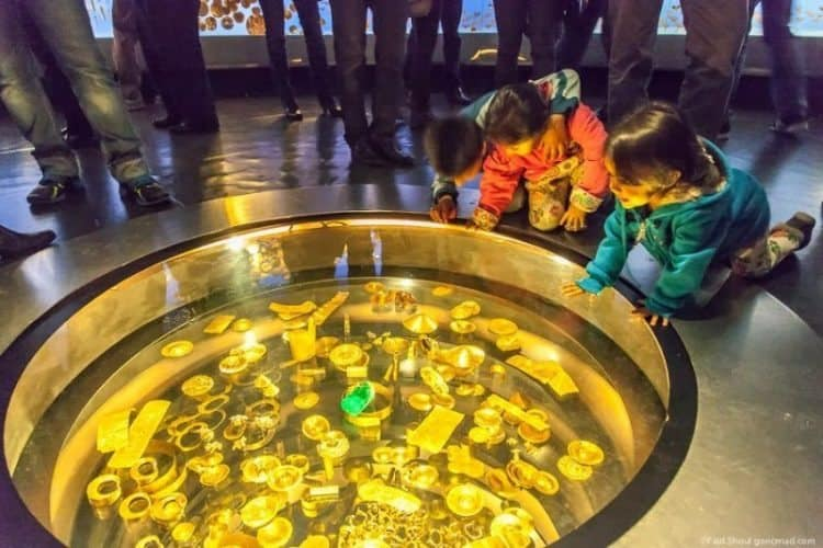 Bogota's Gold Museum has a vast treasure all made of gold in the center of this big city. Max Hartshorne photo.